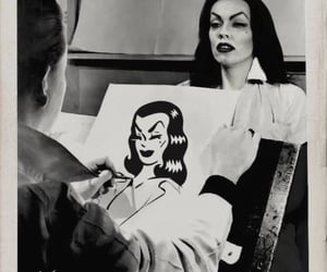 black, Vampira, and vintage image