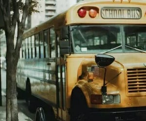 high school and autobus image