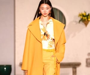 fashion, runway, and yellow image