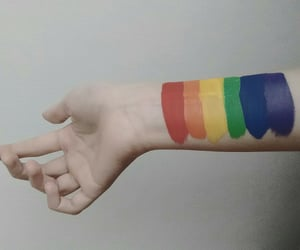 arcoiris, lgbt, and hands image