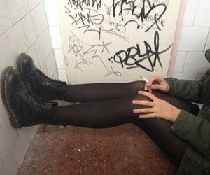 grunge, black, and cigarette image