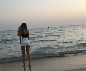 evening, sand, and summer image