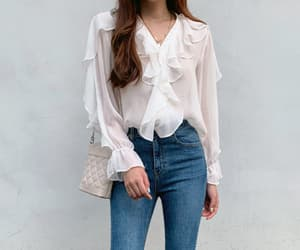 asian, blouse, and asian fashion image