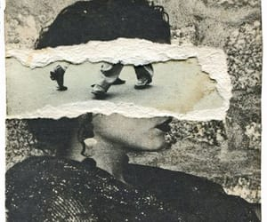 antique, girl, and torn image