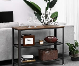 home decor, industrial furniture, and console table image