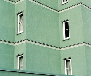 green, aesthetic, and building image