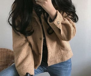 autumn, beige, and fashion image