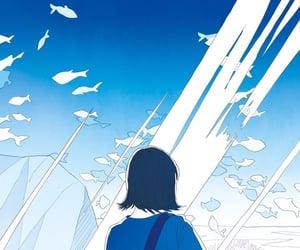 art, autumn, and blue image