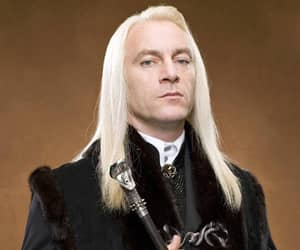 blonde hair, lucius malfoy, and harry potter image