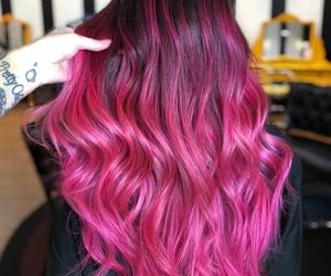 pink hair and bubblegum color image