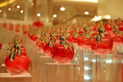 perfume, Nina Ricci, and red image