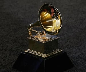 award, gold, and grammy image