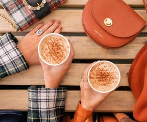 autumn, fashion, and latte image