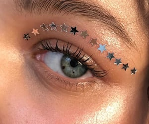 stars, eyes, and makeup image