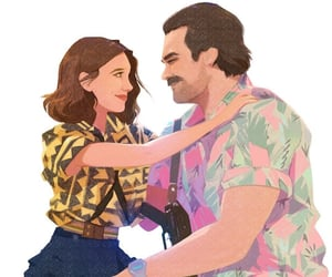 el, hopper, and stranger things image