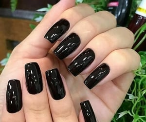 black nails, photo, and style image