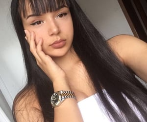 bangs, rolex, and girl image