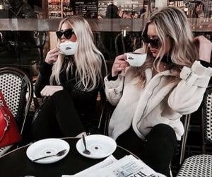 girl, coffee, and fashion image