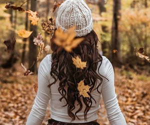 autumn, brunette, and fall image
