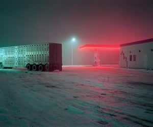 gas station and red image