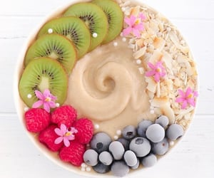 banana, blueberry, and bowl image