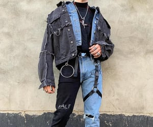 jeans, black, and boy image