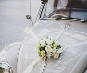 car and wedding image