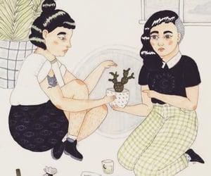 best friends, plants, and friends image