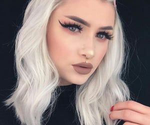 hair, makeup, and piercing image