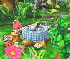 animal crossing, green, and picnic image
