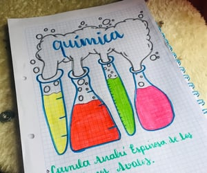 lettering, quimica, and back to school image