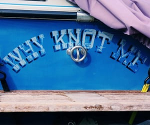 blue, knot, and nautical image