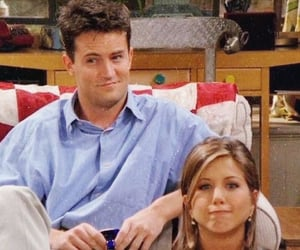 friends, chandler bing, and rachel green image