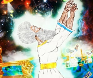 Afro, god, and bible image