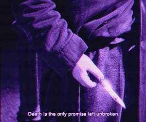 death, knife, and promise image
