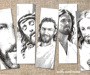 bookmarks, Christ, and face image