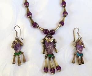 etsy, amethyst necklace, and mexico silver image