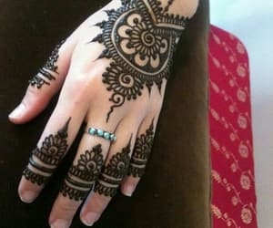 fashion, henna, and girly image