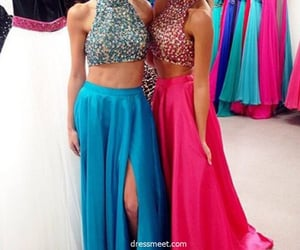 beading, long prom dress, and prom dress 2018 image