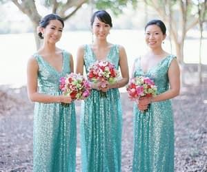 wedding party dress, bridesmaid dresses 2020, and wedding guest dress image