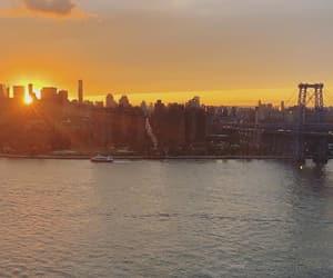 bridge, sun, and city image