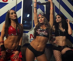 paige, wwe, and brie bella image