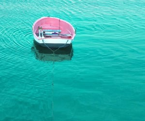boat, colors, and lake image