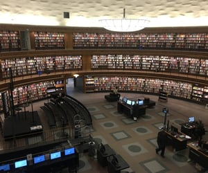 library, stockholm, and sweden image