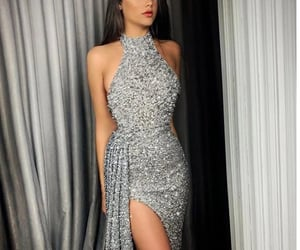 dress, glam, and prom dress image