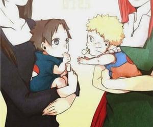 naruto, sasuke, and kushina image