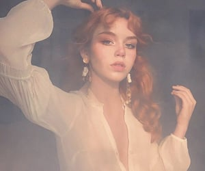 aesthetic, redhair, and smoke image