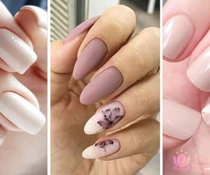 nail art, nails, and nude nails image