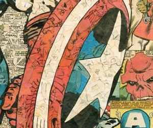 captain america, Marvel, and pattern image