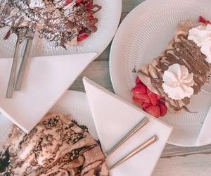 chocolate, crepe, and strawberry image